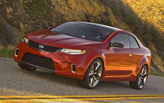 Kia KOUP concept of a new model series which promises