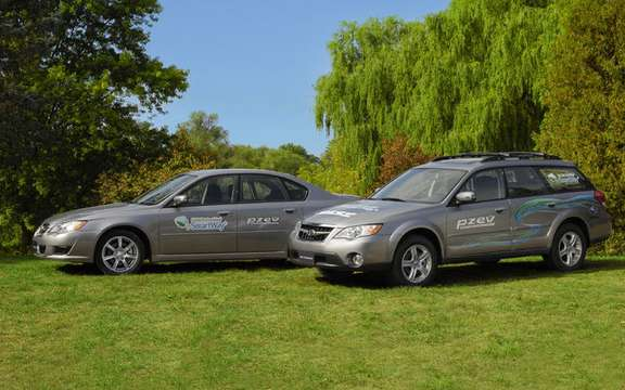 Subaru announces pricing for 2009 Legacy and Outback PZEV