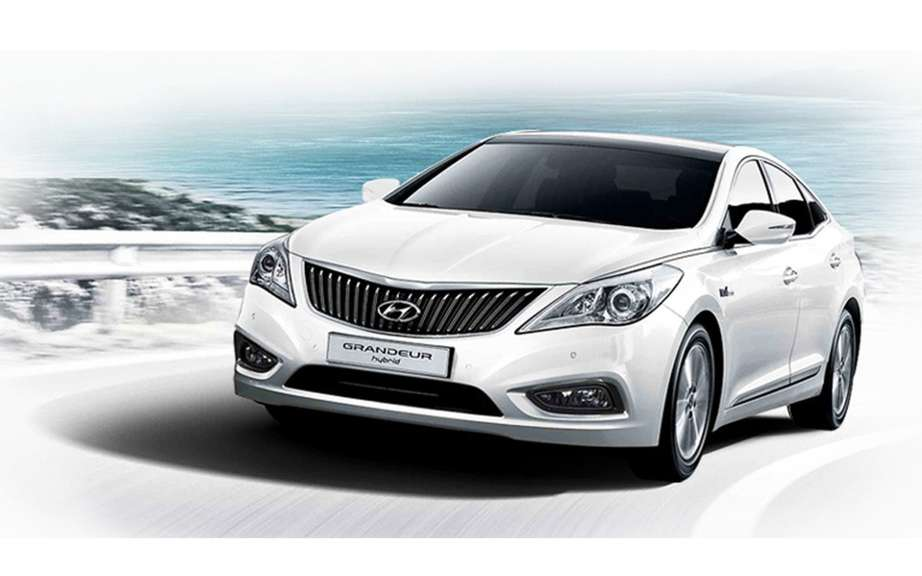 Hyundai Grandeur hybrid introduced in South Korea
