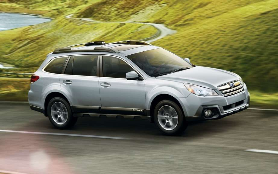 The Subaru Legacy and Outback to get the highest score IIHS picture #7