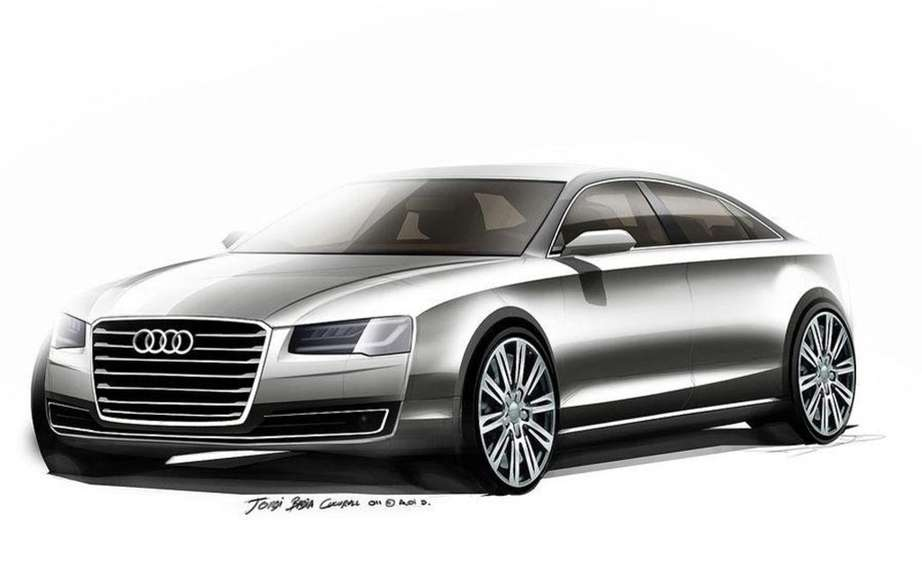 Audi A8 2014 UNVEILED tomorrow on the Web picture #3