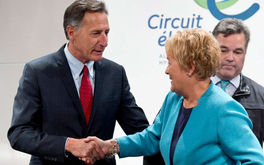 Marois announced the creation of the Corridor recharge electric Quebec Vermont
