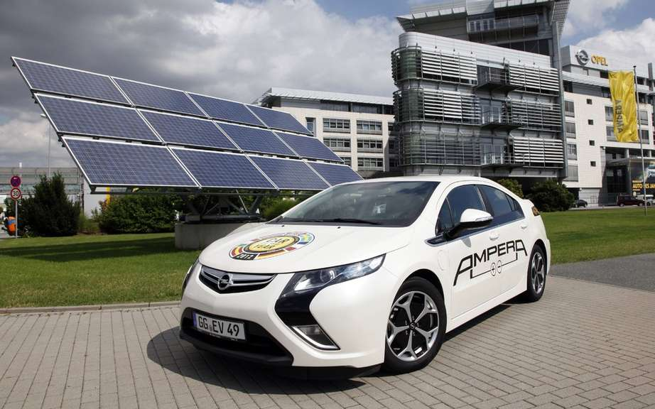 Opel supplies its production sites by solar energy