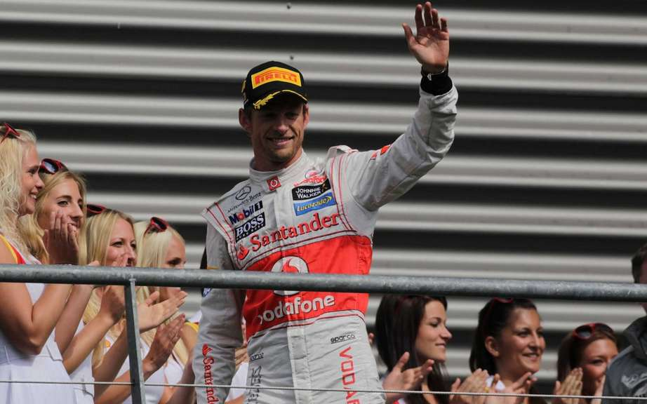 It's back in F1, Button won the Grand Prix of Belgium