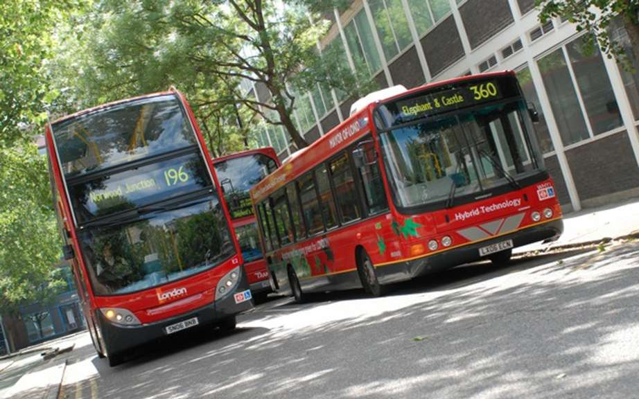 The hydrogen buses were banned during the Olympics