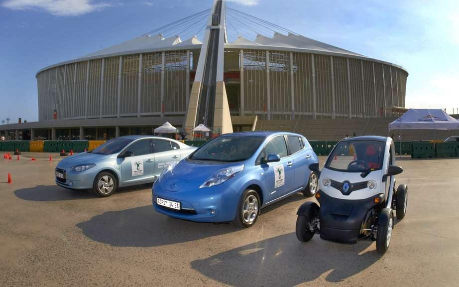 The Renault-Nissan Alliance presents its electric cars COP17 in Durban (AFSU)