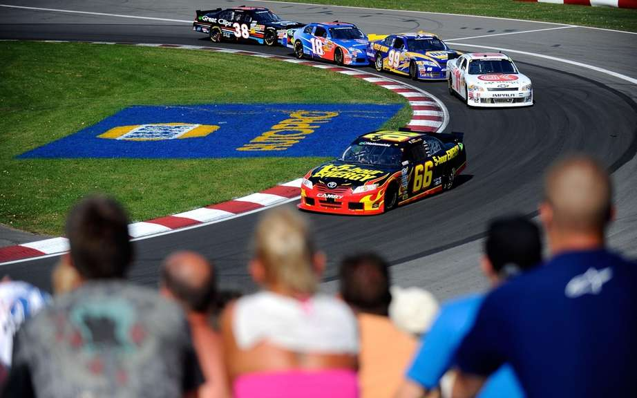 The vice-president of NASCAR Montreal today to confirm the return of the Nationwide Series